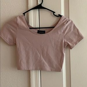 Topshop Pink Crop Top